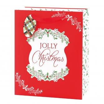 Festive Foliage Holly Large Gift Bag