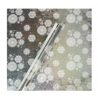 Tom Smith Silver Snowflake Sparkle Wrapping Paper