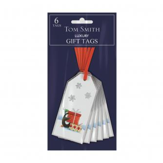 Tom Smith 6 Whimsical Christmas Gift Tags