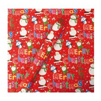 Tom Smith Red Santa & Friends Wrapping Paper