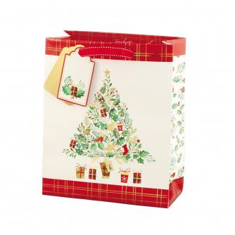 Festive Foliage Tree Gift Bag