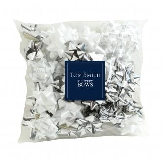 Tom Smith 30 Luxury Silver Wrapping Bows