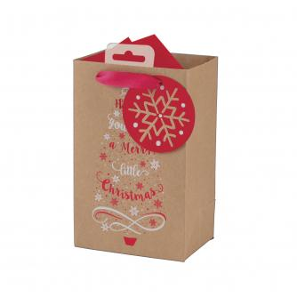 Have Yourself A Merry Little Christmas Kraft Paper Gift Bag - Small