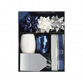 Tom Smith Celebrations Wrap Accessory Set - Blue, White and Silver