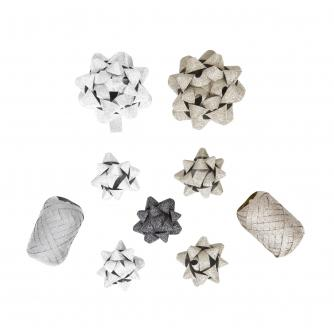 Gold & Silver 9 Piece Gift Wrap Accessory Set