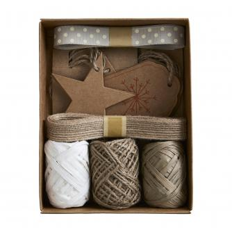 Hessian & Kraft Card Gift Wrap Accessory Pack