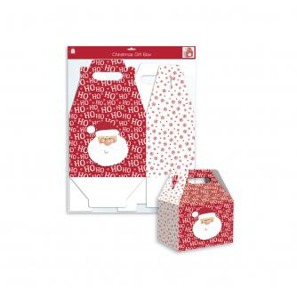 Ho Ho Ho Santa Folding Gift Box - Large