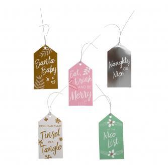Luggage Style Metallic Christmas Gift Tags