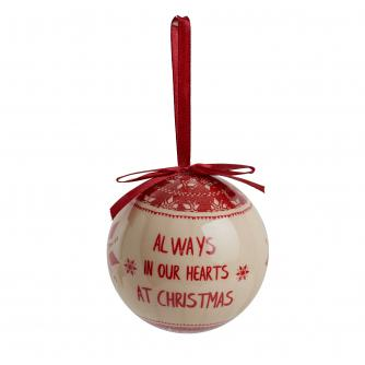 Remembrance Decoupage Bauble