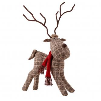 Large Standing Patterned Reindeer
