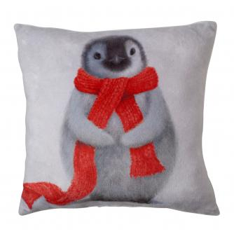 Small Winter Penguin Cushion