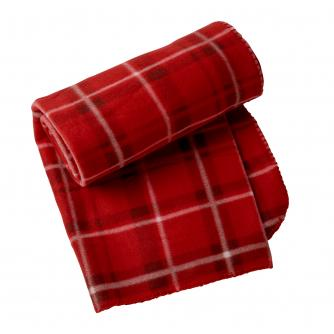 Red Tartan Fleece Throw