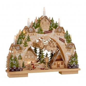 Wooden Christmas Village Light