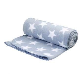Grey Star Fleece Throw