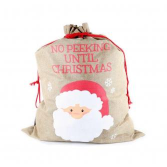 No Peeking Santa Present Sack