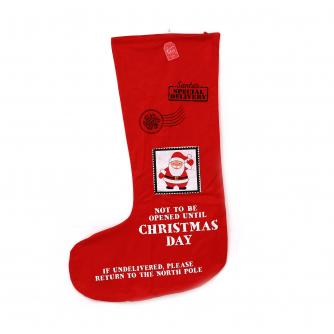 Red Festive Santa Stocking