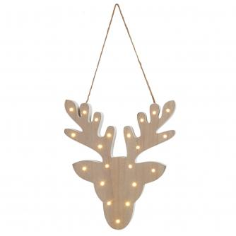 Wooden Reindeer LED Light