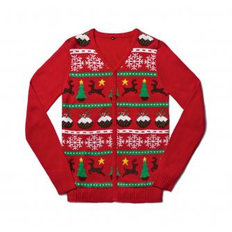 Christmas Pudding Cardigan