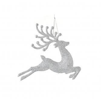 Glitter Prancing Reindeer Tree Decoration