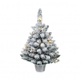 60cm LED Frosty Flocked Christmas Tree