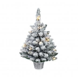 60cm LED Frosty Flocked Christmas Tree