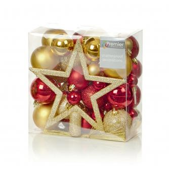 Red & Gold Bauble Pack