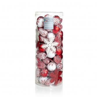 Red & White Bauble Pack