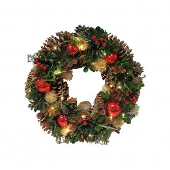 LED Festive Christmas Wreath