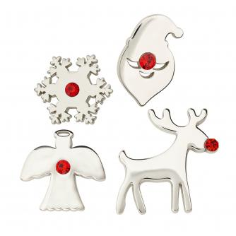 Pack of 4 Christmas Pin Badges