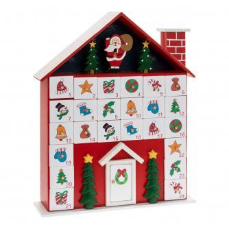 Christmas Cottage Reusable Wooden Advent Calendar