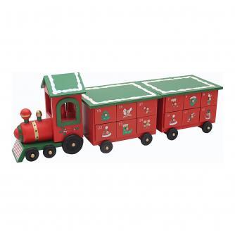 Train Reusable Wooden Advent Calendar