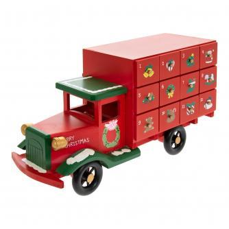Classic Delivery Truck Reusable Wooden Advent Calendar