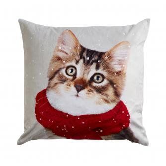 Winter Cat Cushion