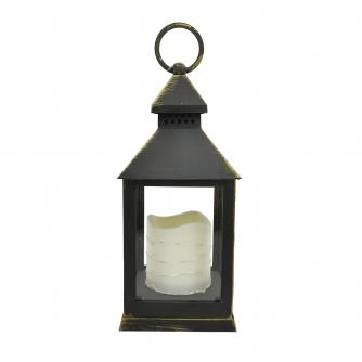 Flickering LED Candle Lantern with Timer Function