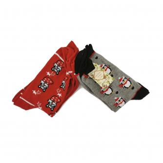 Christmas Socks - Ladies Pack of 2