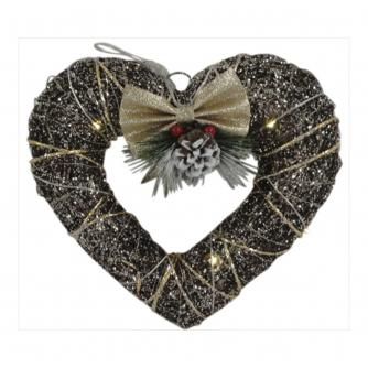 Heart LED Lit Hanging Decoration
