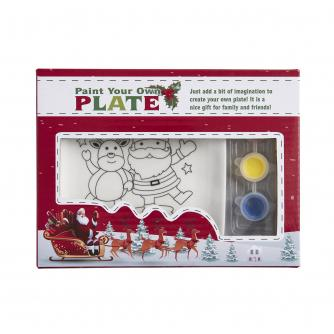 Paint Your Own Ceramic Plate - Santa