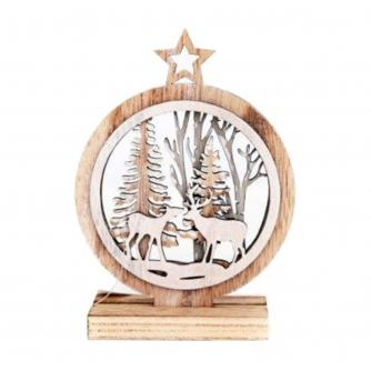 Reindeer in the Forest Wooden Decoration
