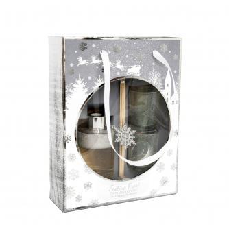 Festive Frost Snowglobe Diffuser & Tealight Gift Set