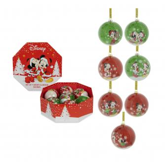 Disney Mickey Mouse & Minnie Mouse Bauble Set