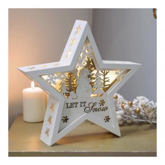 Let It Snow LED Light Star Decoration