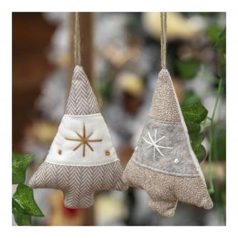 Fabric Christmas Tree Hanging Decoration