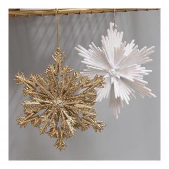 Sparkling Snowflake Hanging Decoration
