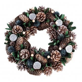 Metallic Pinecone 36cm Wreath