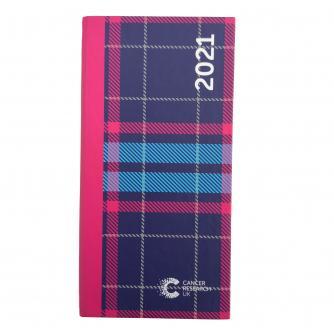 2021 Pocket Diary Blue Tartan