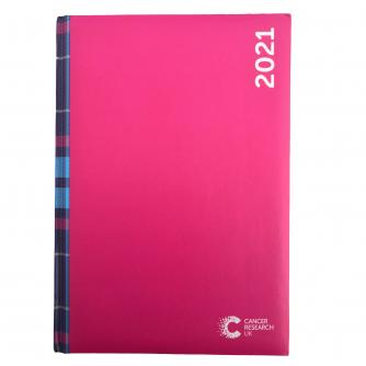 2021 Desk Diary Pink Tartan