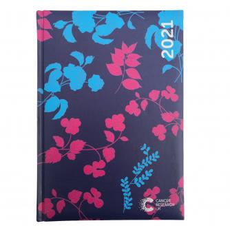 2021 Desk Diary Blue Floral