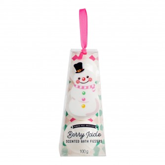 Snowman Berry Icicle Scented Bath Fizzers