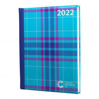 2022 Desk Diary - Blue Tartan