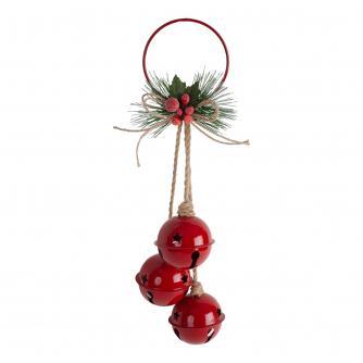 Red Jingle Bells Hanging Decoration